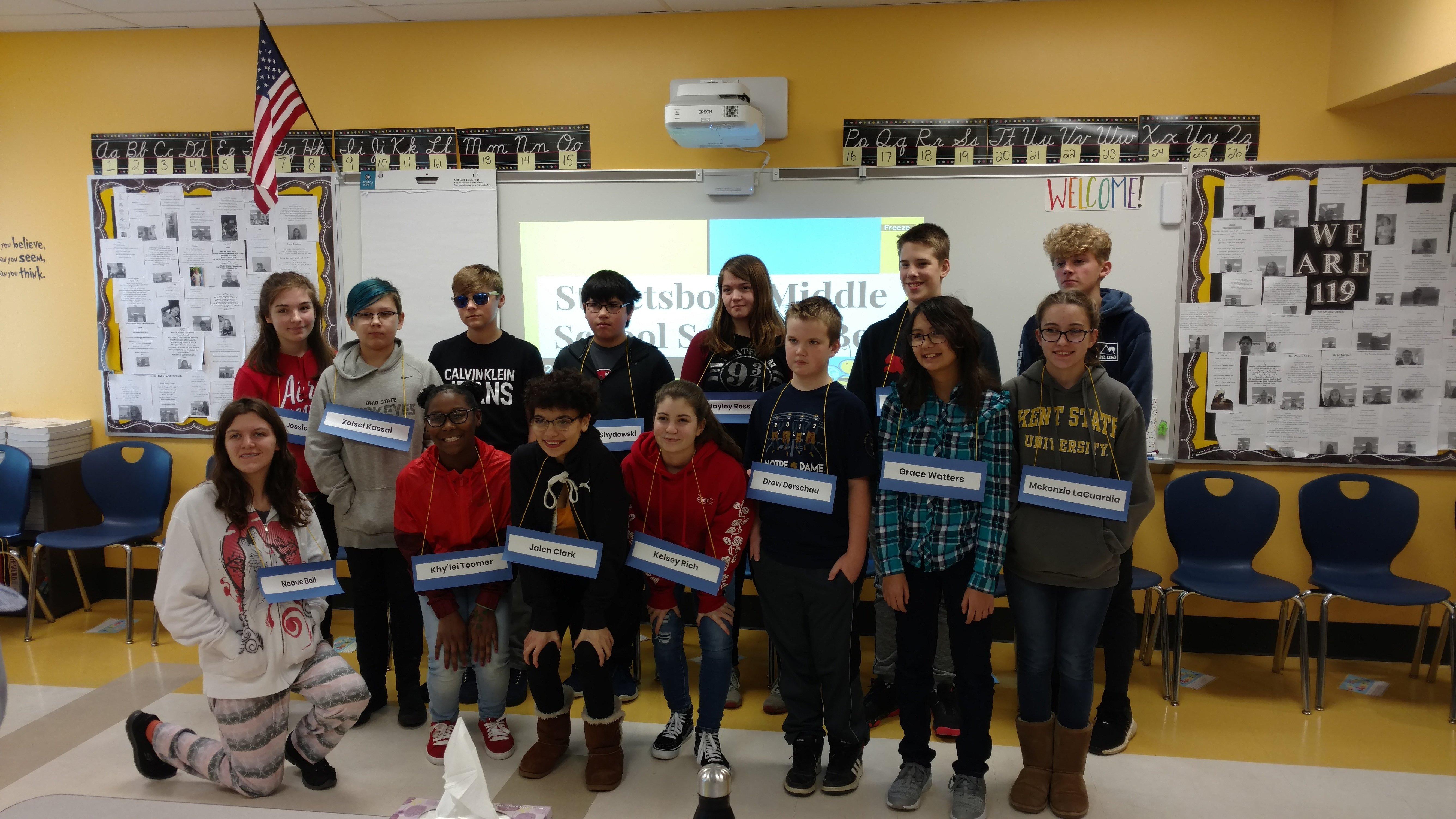 SMS   Spelling Bee Results   Streetsboro City Schools
